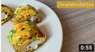 Eiwitrijke omeletrolletjes